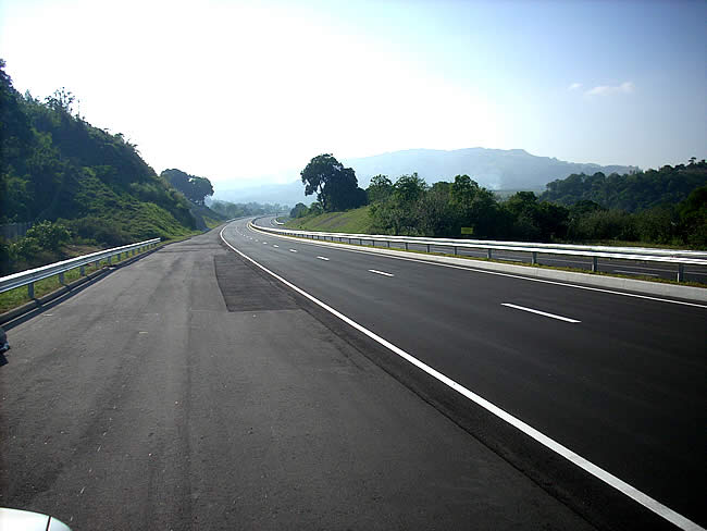 About 10 Kilometers from the Subic Bay Toll Plaza On Eastbound Site of SCTex Looking Back to the West